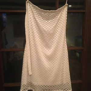 Fredericks of Hollywood white lace dress